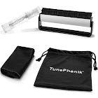 """TunePhonik Carbon Fiber Brush and Vinyl Record Cleaning Cloth Set for LPS and 7"""""""