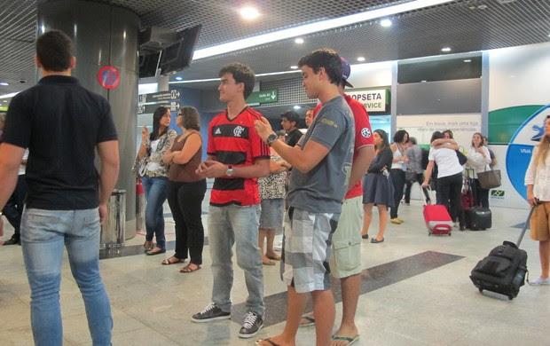 Desembarque Flamengo em Recife (Foto: Janir Júnior)