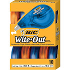 """BIC Wite-Out EZ Correct Correction Tape, Non-Refillable, 1/6"""" x 472"""" - 10 pack"""