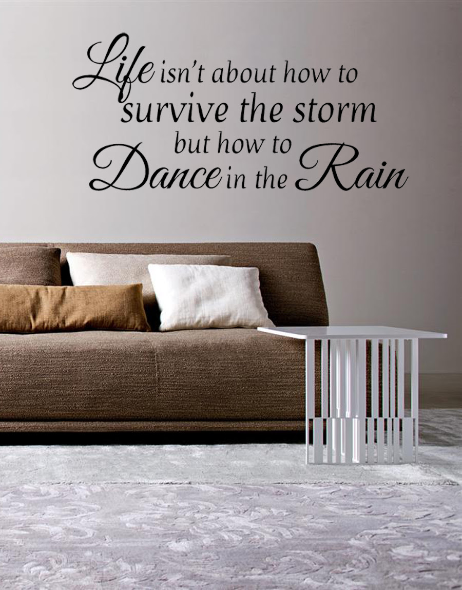 Life Isnt About How To Survive The Storm Vinyl Wall Quote Sticker