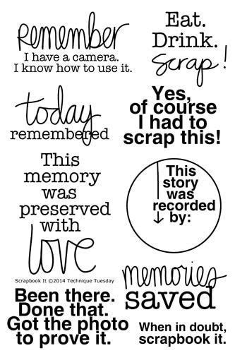 Scrapbook It Stamp Set   Clear Stamps   Technique Tuesday