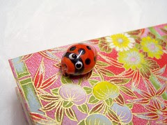 ladybug bead close-up