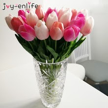 10pcs Beauty Real touch flowers latex Tulips Artificial Flower Bouquet