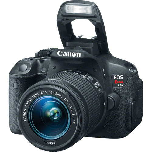 Canon EOS Rebel T5i DSLR Camera Kit with EF-S 18-55mm f/3.5-5.6 and 75-300mm f/4.0-5.6 III Lenses
