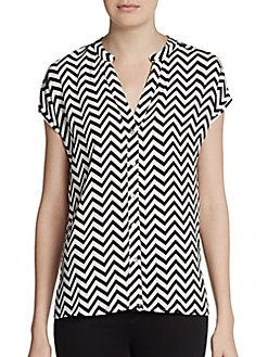 Romeo and Juliet Couture Zigzag Dolman Blouse