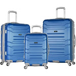 Olympia USA Denmark 3 Piece Hardside Spinner Luggage Set