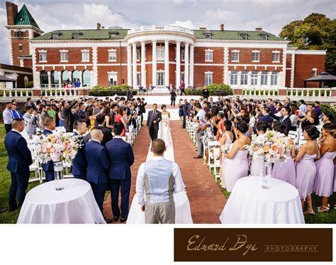 Bourne Mansion in Oakdale, Long Island Wedding ceremony