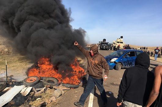 North Dakota Oil Pipeline Protesters Arrested After Fire Breaks Out