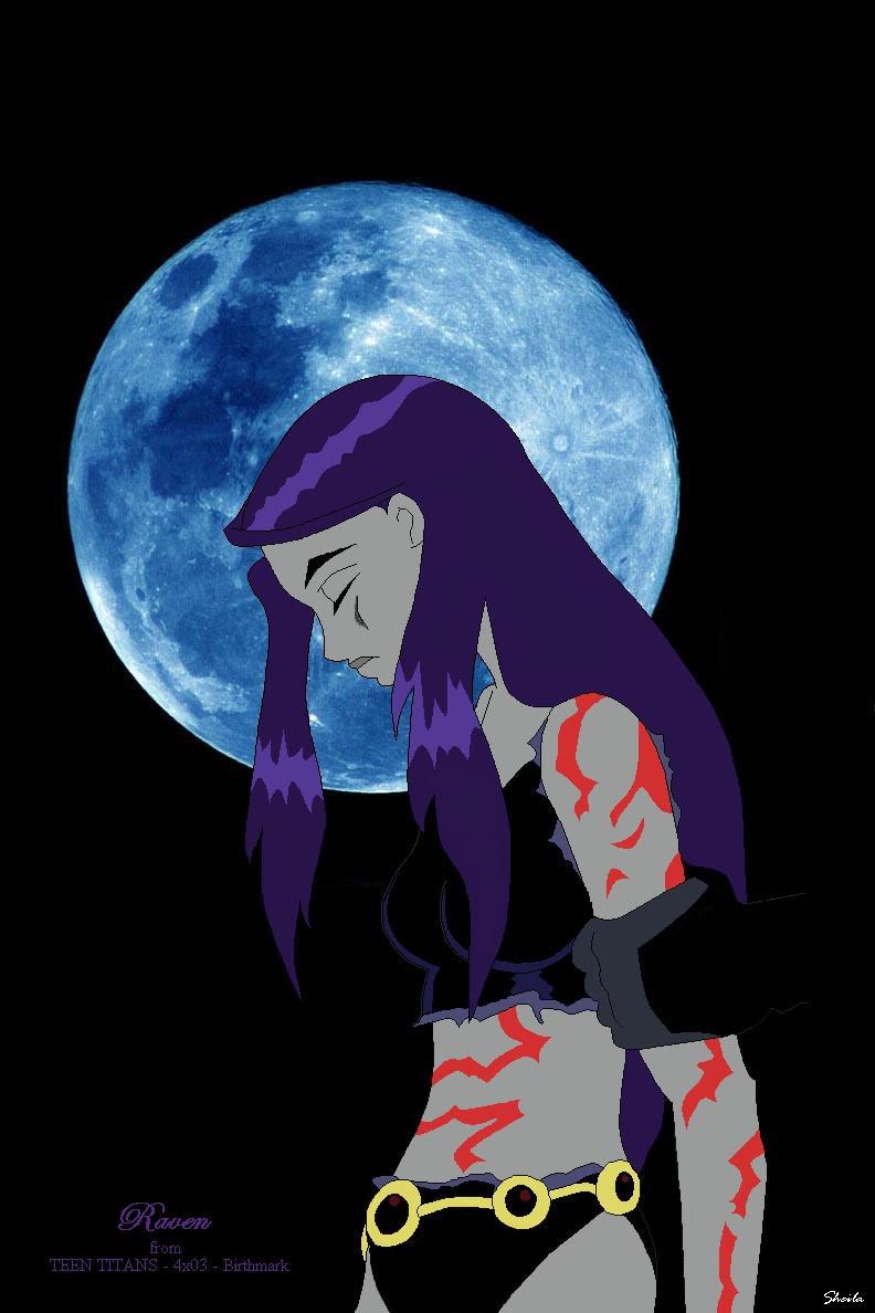 Raven bajo la luna