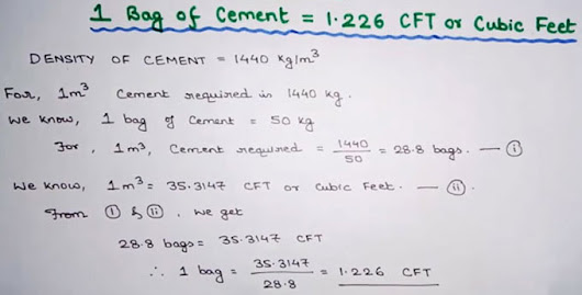 How To Calculate Cement Bags In 1 Cubic Meter | Construction Tutorial