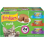 Friskies Classic Pate Cat Food, Variety Pack - 24 count, 5.5 oz cans