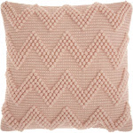 Washed Rose Chevron Throw Pillow - Mina Victory
