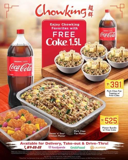 Chowking FREE Coke 1.5L – PROMO MECHANICS