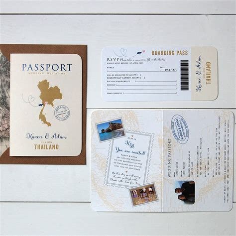all about travel passport wedding invitation and rsvp by
