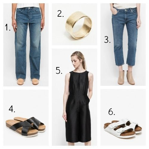 3x1 Jeans - The Things We Keep Ring - Acne Jeans - Need Supply Sandals - Stelen Jumpsuit - Birkenstock Sandals