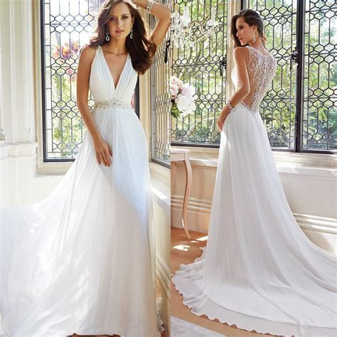 New Arrival Simple Elegant White Summer Beach Wedding