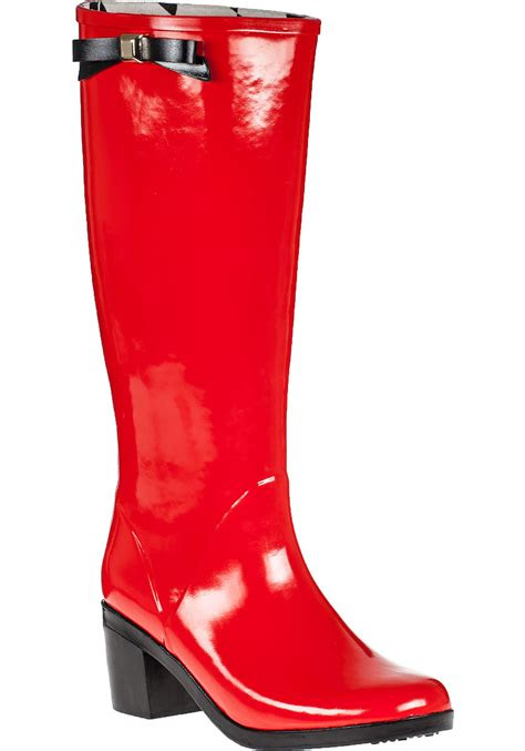 lyst kate spade  york romi rain boot red rubber  red