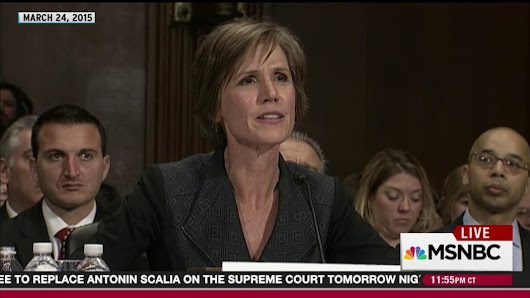 Yates in 2015 on saying no an unlawful order from the president