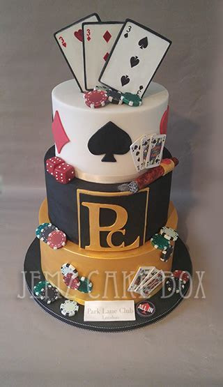 3 Tier Casino Theme Celebration Cake £460   Jemz Cake Box