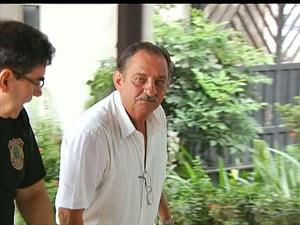 Superintendente do Incra em Santarém, Luiz Bacelar foi preso na manhã de segunda pela PF (Foto: Reprodução/TV Tapajós)