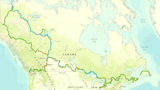 Trans Canada Trail, Map Directions, Hiking, Biking Areas (Great Trail Info)