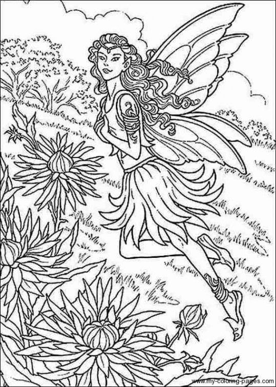 Realistic Fairy Coloring Pages at GetColorings.com | Free ...