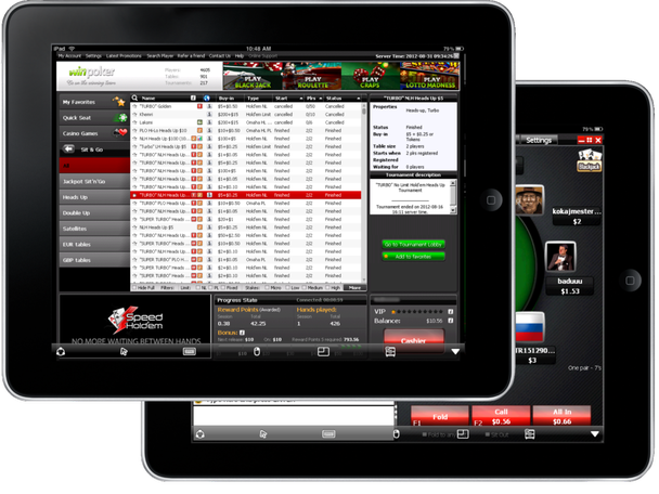 WinPoker offers mobile support for iPoker
