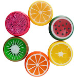 6PC Crystal Fruit Clay Rubber Mud Intelligent Hand Gum Plasticine Slime Kid Toys