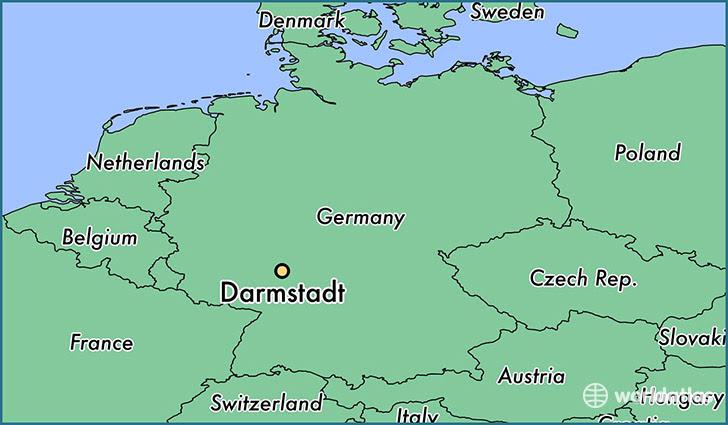 Where Is Darmstadt Germany Darmstadt Hesse Map