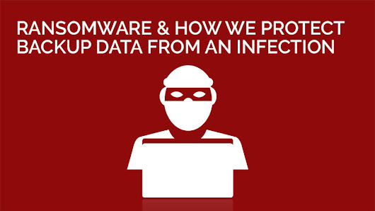 Ransomware and how we protect backup data from an infection