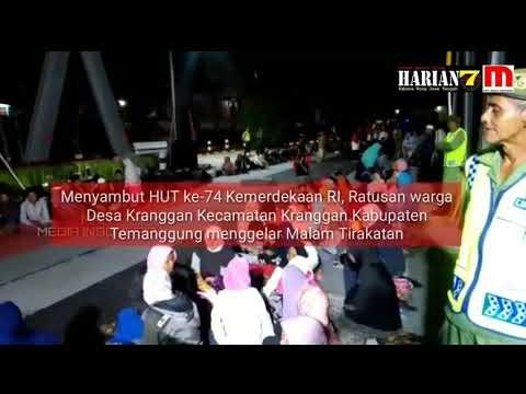Bupati Temanggung Bersama Warga Kranggan Ikuti Malam Selamatan RI ke 74 di Jembatan Kali Progo