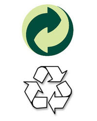 Common recycling symbols used on packaging