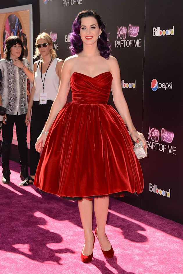 "Katy Parry in Dolce & Gabbana at the LA premiere of ""Katy Perry: Part of Me"""