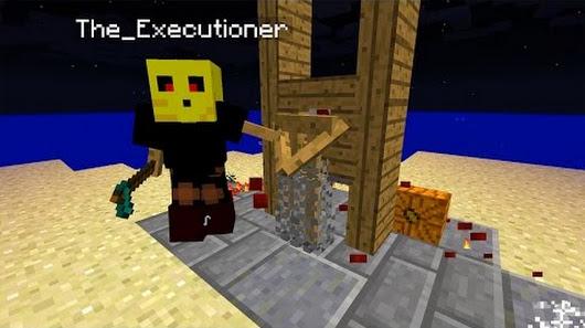 Henker Guillotine In Minecraft Vanilla Minecraft Creation Command - Minecraft spielerkopfe befehl