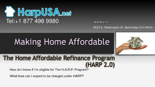 Home Affordable Refinance Program Harp 2 0