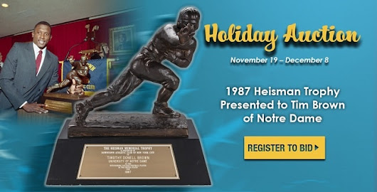 Heisman Trophy Awarded To Notre Dame WR Tim Brown Available Via Goldin Auctions