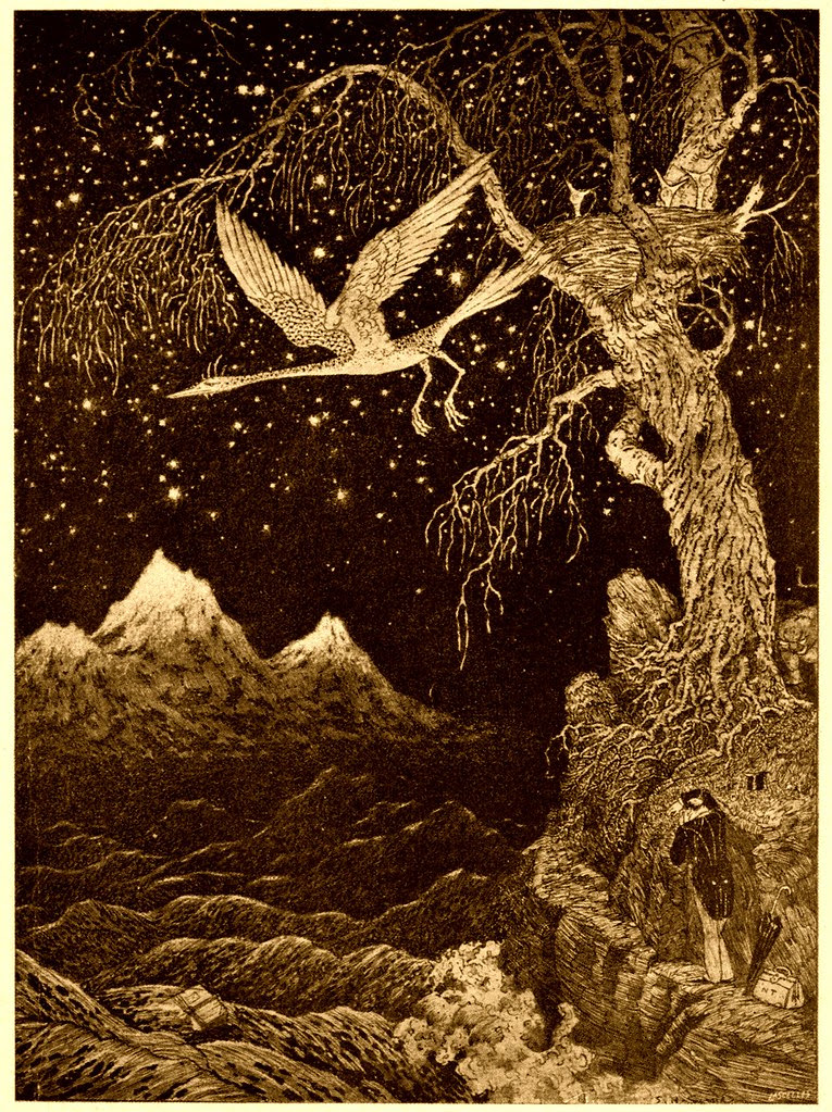 Sidney Sime - There Stood That Lonely, Gnarled And Deciduous Tree (1916)