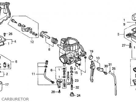 Honda Trx300ex Fourtrax 300ex 1998 Usa parts list ...