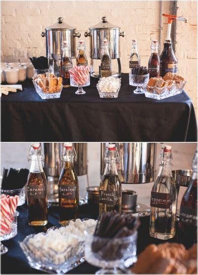 wedding desserts hot chocolate bar