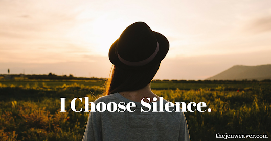 In The Face of Controversy, I Choose Silence