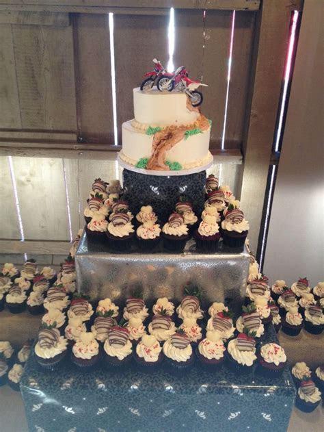 Dirt bike wedding cake/cupcakes   My Creations   Bike