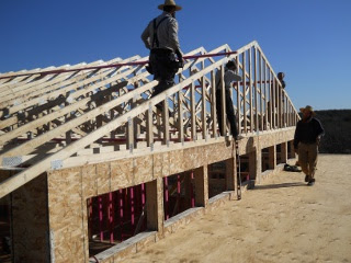 Installing the Final End House Roof Truss