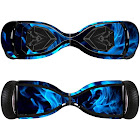GameXcel (Razor Hovertrax 2.0 Decal, Blue Fire) - Skin for Self-Balancing Electric Scooter - Sticker for Skate Hover Board - Decal for Self Balance Mobility Lo