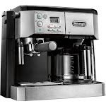 DeLonghi - 10-Cup Coffee Maker and Espresso Maker - Stainless steel