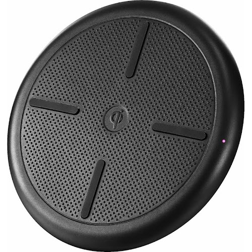 Insignia - 5W Qi Certified Wireless Charging Pad for iPhone /Android - Black