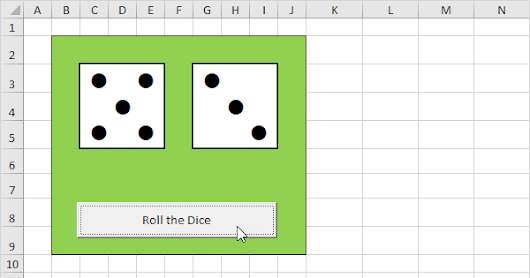 Roll two Dice in Excel