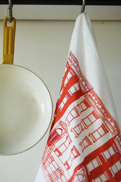 Brownstone Tea Towel