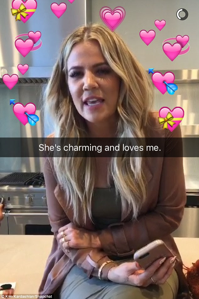 Festive mood: Khloe later went off at Kim for leaving Kris without an Uber