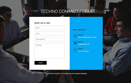 Techno Contact Form Flat Responsive Widget Template