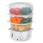 Rosewill Electric Food Steamer 95 Quart Vegetable Steamer With Bpa Free 3 Tier Stackable Baskets Egg Holders Rice Bowl Rhst-15001